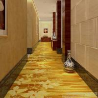 Buy cheap 4m Width Golden Hotel Corridor Decorative Axminster Carpet For Sales With Low product