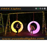 China indoor outdoor Rechargeable Plastic Garden Led Lighting Illuminated Patio Swing on sale