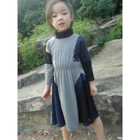 Buy cheap Grey  Turtleneck 5 Year Baby Girl Dress , Little Girl Long Sleeve Dresses Cotton Spandex from wholesalers