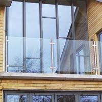 Wholesale Terrace railing Stainless steel  glass balustrade/ topless post glass railing deck banister from china suppliers