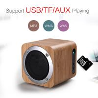 Buy cheap Wooden Outdoor Bluetooth Speakers Rechargeable Bluetooth Speaker with Mp3 Playback from wholesalers