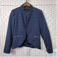 Buy cheap Navy Jacquard Long Sleeve Women's Office Wear Jackets For Spring And Autumn from wholesalers