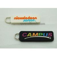 Buy cheap OEM Factory PVC Rubber Puller Zipper, Custom Company Logo Head Zip Puller product