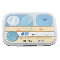 Dishwasher Oven Safe Silicone Lunch Box Food Container  With Salad Hole  Lid Manufactures
