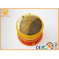 Wholesale Amber 8PCS LED Flashing Solar Warning Light With Bike , 1500m isible Distance from china suppliers