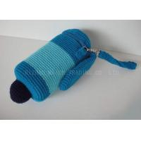Buy cheap Sky Blue Removable Crochet Cup Cozy Stainless Chain Knitted Mug Cosy With Hat from wholesalers