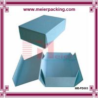 Buy cheap Blue pantone printing recyclable grey paper folding gift box Retail expandable file folder for sale from wholesalers