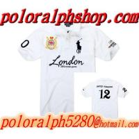 Buy cheap 2012 London Olympic Games Men Ralph Lauren Polo Shirts in white from wholesalers
