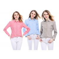 Buy cheap OEM custom made logo Ladies fashion oxford cotton colorful oxford casual blouse shirt unisex plain shirt wholesale from wholesalers