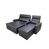 Buy cheap 12mm Plywood Leather Recliner Chair Movie Theather Sofa Beds from wholesalers