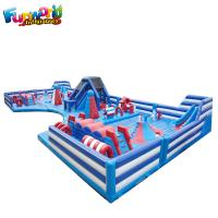 Wholesale Blue And White Combo Pvc Inflatable Bounce House For Children ROHS from china suppliers