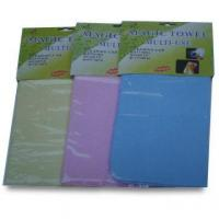 Buy cheap Water Absorbent PVA Towels, Ideal for Sports, Bath and House-cleaning, Customized Colors Accepted from wholesalers