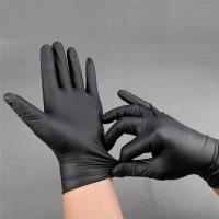 Buy cheap 2019 competitive price Black Powder Free Nitrile Gloves Texfured finger for medical use 3.0g/3.5g/4.0g/4.5g/5.0g from wholesalers