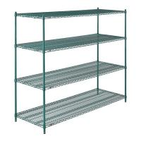 Buy cheap 4 Tier Shelf Storage Rack Organizer Steel Wire Shelving For Mushrooms Growth from wholesalers
