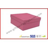 Buy cheap Rigid Luxury Pink Gift Boxes Matt Lamination , jewelry gift boxes from wholesalers