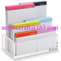 Buy cheap Hot selling in America durable transparent table top acrylic memo holder from wholesalers