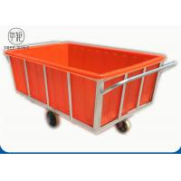 Buy cheap K1200L Rectangular Commercial Plastic Laundry Trolley On Wheels For Industry Moist Linen from wholesalers