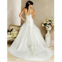 Buy cheap Embroidery Sweetheart Neckline with Chapel Train Satin Organza Lace Wedding Dresses from wholesalers