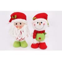 30CM Customizable snowman doll plush Holiday stuffed Toys Of Fiber cotton