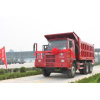 Buy cheap Sinotruk HOWO mining dump / tipper special truck 371hp with front lifting cylinder from wholesalers