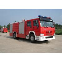 Wholesale Sinotruk HOWO Engine Motorized Fire Truck , Pumper Tanker Fire Trucks Load Max 26000kg from china suppliers