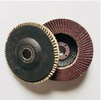 Buy cheap 115mm Aluminium oxide abrasive grinding flap wheel discs for stainless steel from wholesalers