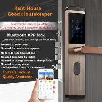 Buy cheap Mobile Bluetooth Remote Intelligent Door Lock Rental House Use With Dynamic Password from wholesalers