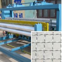Wholesale Stainess Steel Wire Crimped Wire Mesh Machine 30-40 Times / Min Speed from china suppliers