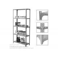 Buy cheap Adjustable Steel Slotted Angle Shelving Racks Five Tiers For Industrial Storage from wholesalers