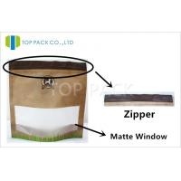 Pet Food Ziplock Stand Up Pouches Matte Surface With Clear Window Manufactures