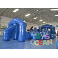 Buy cheap Popular Sport Blue Big Inflatable Paintball Obstacle For Laser Tag 0.9MM PVC CE from wholesalers