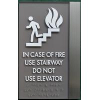 Buy cheap Brushed Aluminum ADA Elevator Signs Clear Grade II Braille For Emergency Stop from wholesalers