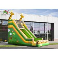 Buy cheap Green / Yellow Giraffe PVC Inflatable Dry Slide Customize Slide For Outdoor Activities from wholesalers