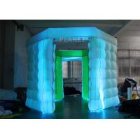 Wholesale 2 Doors Inflatable Photo Booth Kiosk Diamond Shape With Air Blower from china suppliers