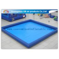 Buy cheap Rectangular Inflatable Swimming Pool Above Ground , Backyard Inflatable Pool For Family from wholesalers