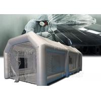 Buy cheap Silver Protable Inflatable Spray Paint Booth 8x4x3m / Mobile Car Painting Station from wholesalers