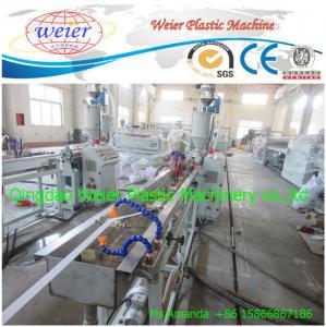 China Single Screw  Plastic Sheet Extrusion Line PVC Edge Banding Machine on sale