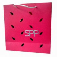 Buy cheap Good Appearance Paper Bag with Leafage Perforation, Available for Gift, Garment, Cosmetic  from wholesalers