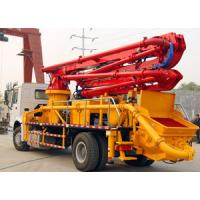 Buy cheap Boom Concrete Mixer Pump Truck Mounted Large Output Wireless Remote Control from wholesalers
