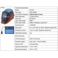 Buy cheap CE ANSI Auto darkening welding helmet/welding mask with Grinding function from wholesalers