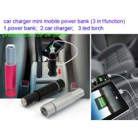 China mini car charger  power bank with led light , measure 120*26*26mm on sale