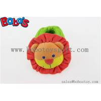Wholesale Soft Short Plush Stuffed Lion Toy Baby Indoor Shoes with Rattle from china suppliers