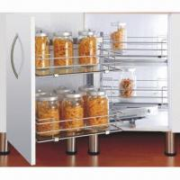 Buy cheap Kitchen Cabinet Organizer, Magic Corner, Pull Out Storage and Wire Basket with Soft Closing from wholesalers