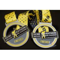 Wholesale Sports Semi Marathon 10KM Custom Medals, Create a Design Soft Enamel Medallion With Ribbon from china suppliers