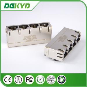 Gigabit RJ45 Multiple Port Connectors with Transformer , RJ45 ADSL Filter Manufactures