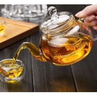 Buy cheap High Borosilicate Heat Resistant Glass Teapot w/ Infuser Flower/Green Tea Pot from wholesalers