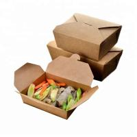 Wholesale Brown Snack Cardboard Food Boxes , Cardboard Takeaway Food Boxes from china suppliers