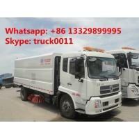 Buy cheap hot sale dongfeng tianjin street sweeper truck(3cbm water tank+7.2cbm dust bin), best price road cleaning truck for sale from wholesalers