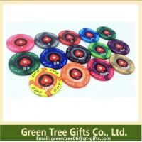 Buy cheap Two-tone Printing Poker Chips hot stamping gold front number pokerchip abs chips from wholesalers