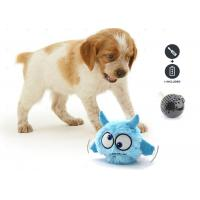 Blue Crazy Jumping Moving Battery Operated Squeaky Dog Ball For Pet Play